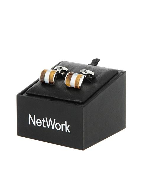 Network Kol Düğmesi Kahve